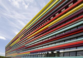 The colorful fasade of a building of the Hogeschool of Utrecht — Stock Photo