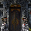 An entrance of a temple in Bali - Stock Photo
