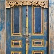 Traditional Balinese door — Stock Photo
