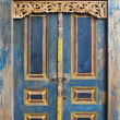 Traditional Balinese door — Stock fotografie