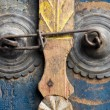 Door furniture on a Balinese door, Indonesia — Stock Photo #19281227