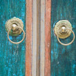 Stock Photo: Detail of Balinese door