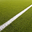 Line of an artificial soccer field — Stock Photo