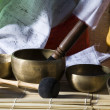 Tibetan singing bowl for sound healing — Stock Photo