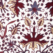 Detail of a batik design from Indonesia - Stock Photo