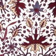 Detail of a batik design from Indonesia — Stock Photo