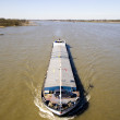 Inland navigation on the river Waal in the Netherlands — Stock Photo