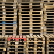 Royalty-Free Stock Photo: Stacked pile of of wooden Euro pallets