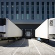 Loading bay for loading and unloading trucks — Stock Photo