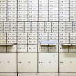Stock Photo: Antique safe deposit boxes in bank Mandiri in Jakarta