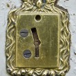 Stock Photo: Antique vault keyhole in bank Mandiri, Jakarta, Indonesia