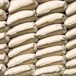 Stack of cement bags in Sunda Kelapa, Jakarta — Stock Photo #19286899