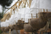 Offerings for a temple ceremonie in Bali — Foto de Stock