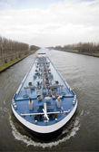 Inland navigation on the Amsterdam-Rijn canal in the Netherlands — Stock Photo