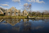 Traditional Dutch farm house — Stock Photo