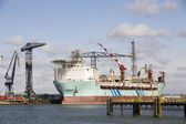 A so-called FPSO Floating Production and Storage Offloading System at a shipyard in the Port of Rotterdam — Stock Photo