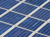 Background of modern solar panels — Stock Photo