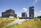 Modern office buildings in business area Papendorp, Utrecht, the Netherlands — Stock Photo