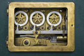 Inside view of an antique combination lock of bank Mandiri in Jakarta, Indonesia — Stock Photo