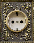 Traditional Indonesia wall sockets in bank Mandiri,Jakarta,Indonesia — Stock Photo