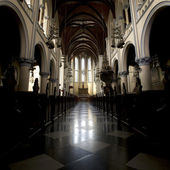 Interior of the Jakarta Cathedral, a Roman Catholic church in Jakarta, Indonesia — Stock Photo