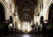 Interior of the Cathedral Jakarta, a Roman Catholic church in Jakarta, Indonesia — Stock Photo