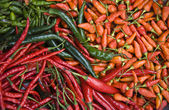 Red hot chili peppers on the market in Glodok, Jakarta — Stock Photo