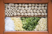 Indonesian meatballs (Bakso) in a food stall in Jakarta — Stock Photo