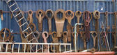 Large work tools at a shipyard — Stock Photo