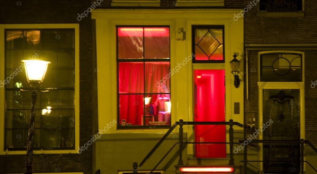 Red light district in Amsterdam, Holland — Stock Photo ...