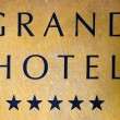 Sign of a five star hotel — Stock Photo