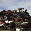 Stack of scrap cars - Stock Photo