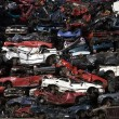 Stack of scrap cars — Stock Photo #19331795