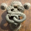 Antique doorknocker in Gran Canaria, Spain — Stock Photo