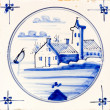 Traditional authentic Delft Blue hand made ornamental earthenware — Stok fotoğraf