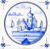 Traditional authentic Delft Blue hand made ornamental earthenware — Stock Photo