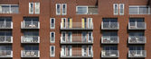 New modern apartments with balconies in Utrecht, the Netherlands — Stock Photo