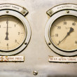 Stock Photo: Decayed panel of gauges