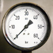 Stock Photo: Decayed gauge to measure pressure