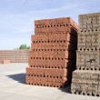 Stacked bricks at a brick factory — Stock Photo #19385665