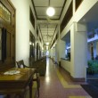 Stock Photo: Hallway of hotel in art deco style in Solo, Indonesia