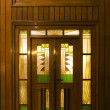 Stock Photo: Door of hotel in art deco style in Solo, Indonesia