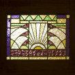 Stained glass detail of an hotel in Solo, Indonesia — Stock Photo