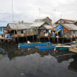 Slum area near Paotere harbor, the old port of Makassar — Stock Photo