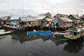 Slum area near Paotere harbor, the old port of Makassar — Stock Photo