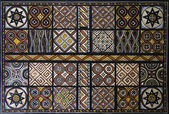 Toraja wood carving each panel symbolizes goodwill — Stock Photo