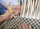Bamboo weaving in a Lombok village — Stock Photo