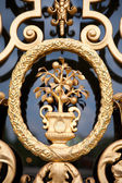 Detail of a golden ornate door of the Loo Palace in the Netherlands — Stock Photo