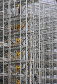 Construction site of a distribution warehouse under construction — Stock Photo