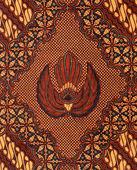 Szczegóły konstrukcji batik z indonezji — Zdjęcie stockowe
